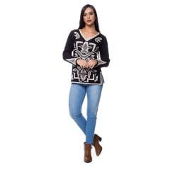 Blusa tricot arabesco